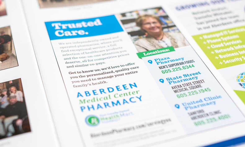 Aberdeen Medial Center Pharmacy magazine print advertisement