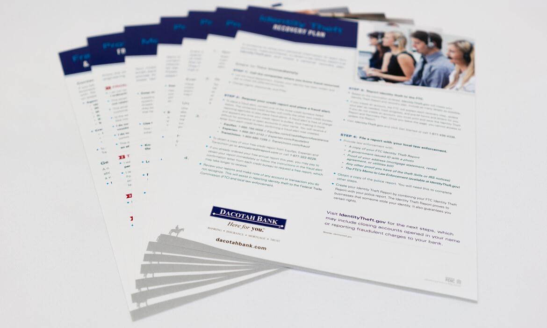 Dacotah Bank fraud folder papers