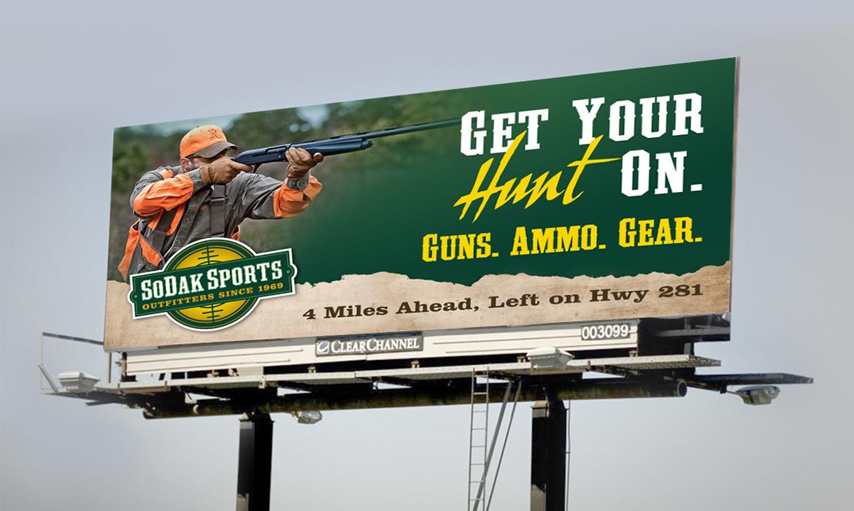 SoDak Sports billboard design