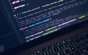 Computer screen showing computer code